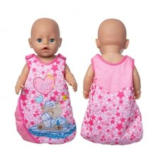 2021 New Born New Baby Fit 17 Inch 43cm Doll Clothes Doll Red Heart Sleeping Bag Clothes Accessories