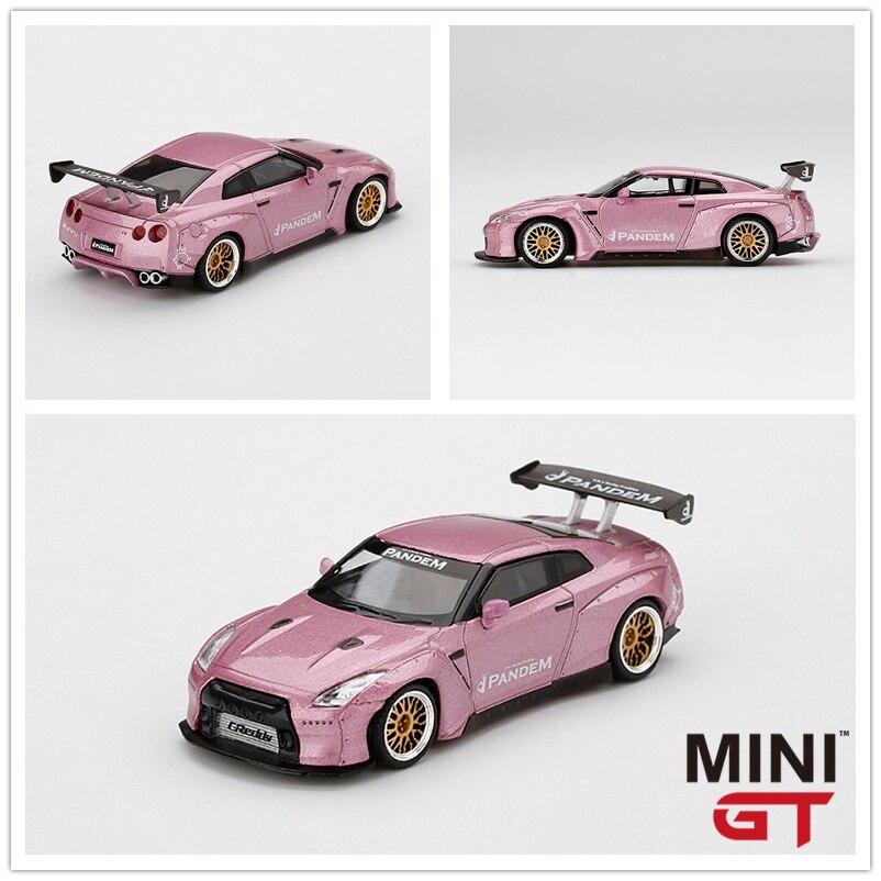 MINI GT 1:64 Nissan Pandem GT-R R35 GT Wing Passion Pink LHD Rocket Bunny Diecast Model Car