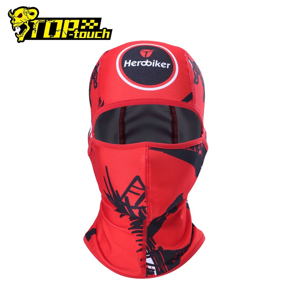 HEROBIKER Motorcycle Mask Face Shield Balaclava Sun-protection Moto Biker Headscarf Mascara