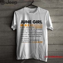 Camiseta para hombre chica De junio I Facts es más conocida por el Detector de mentiras humanas y la camisa de mujer más real