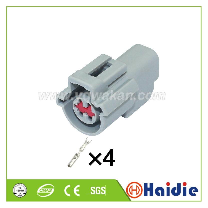 Envío gratis 2 juegos 4pin Auto impermeable cable con enchufe arnés conector...