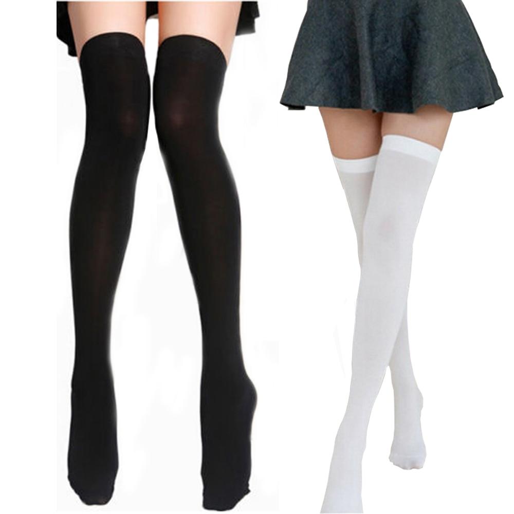Nylon High Knee Socks Women's Thigh High Stockings Over Knee Stockings for Girls Ladies Long Sexy Stocking