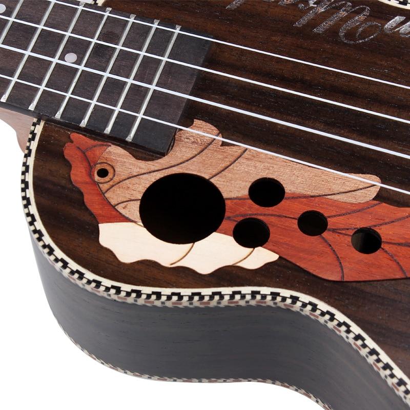 Music Ukulele Soprano Travel Bass Kit Black Set Small Guitar Wood Profesional Accessories Fish Perform Guitarra Sports ZZ50YL enlarge
