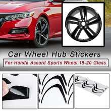 Brillant noir voiture style roue moyeu autocollants bande jante soin protecteur décalque pour Honda Accord sport roue 2018-2020 accessoires