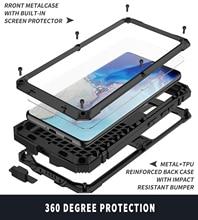 Металлический корпус для Samsung galaxy s21 ультра плюс чехол телефона Heavy Duty Защита Doom защитное стекло чехол противоударный держатель