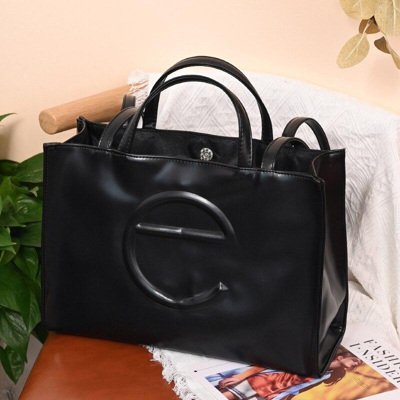 حقائب يد TELFAR نمط التمساح حقائب كتف نسائية رفرف جديد بولي Leather حقائب جلدية Crossbody للنساء Bolsas