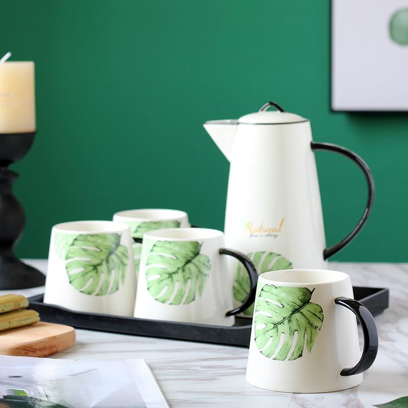 نوديتش درينكوير طقم شاي وقهوة إبريق شاي السيراميك غلاية الانجراف وعاء كوب لصواني الشاي الشاي WJ021540