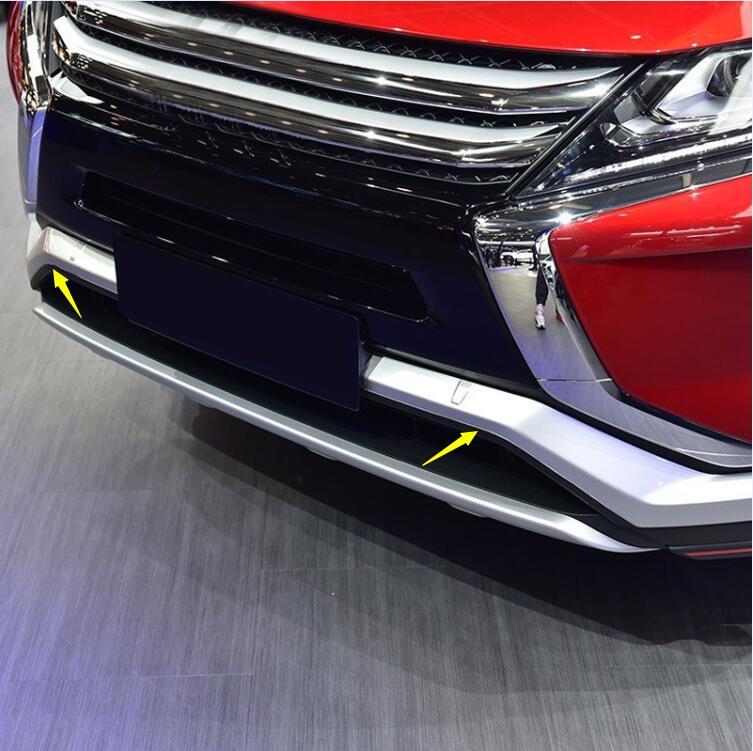 Para Mitsubishi Eclipse Cross 2018 accesorios de coche rejilla de parachoques frontal inferior moldura embellecedor ABS mate