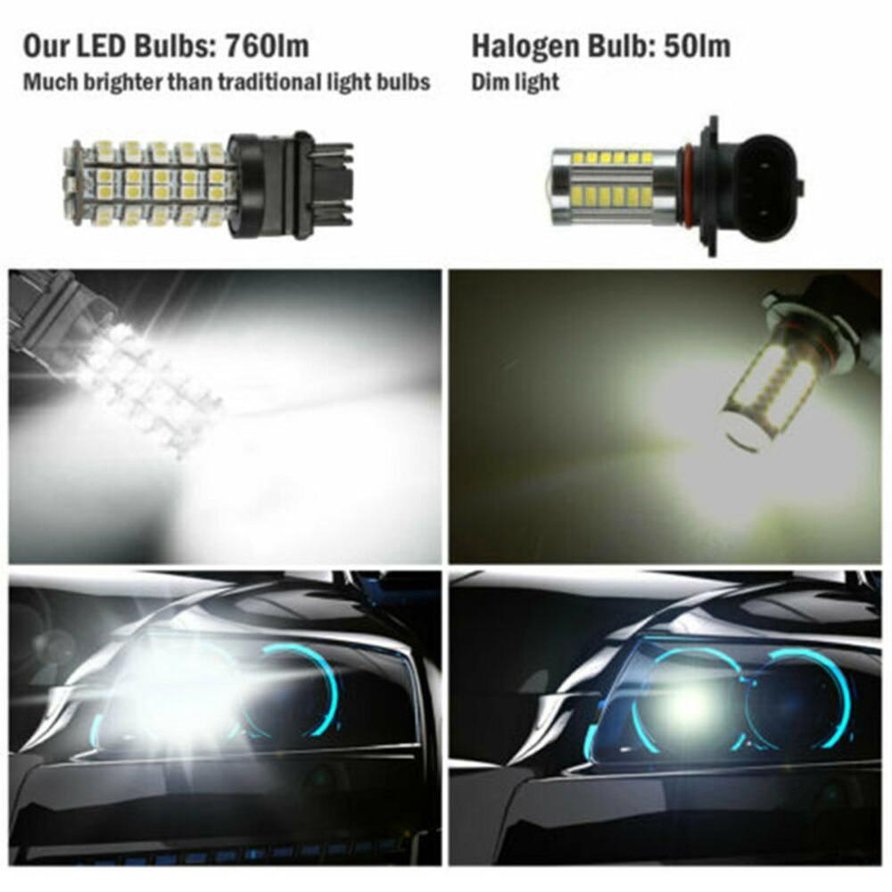 Белый светодиодный фонарь 6000K 3528-SMD 760LM 12VDC DRL 3057