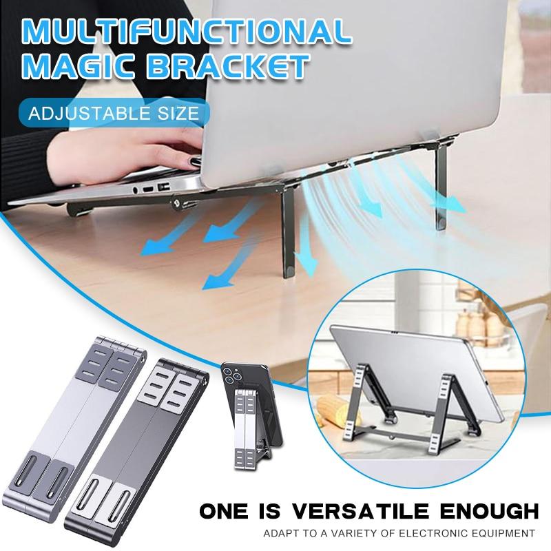 Fácil de transportar multi-ângulo ajustável portátil suporte dobrável multifunções universal telefone tablet portátil suporte novo