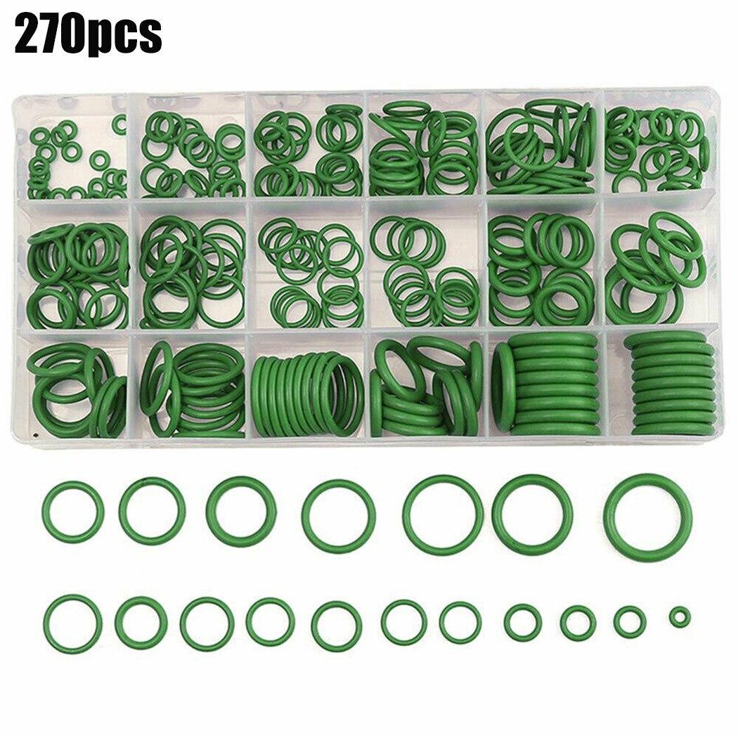 Набор резиновых уплотнительных колец для кондиционера, набор уплотнительных колец 18 размеров, зеленые автомобильные аксессуары, набор инс...