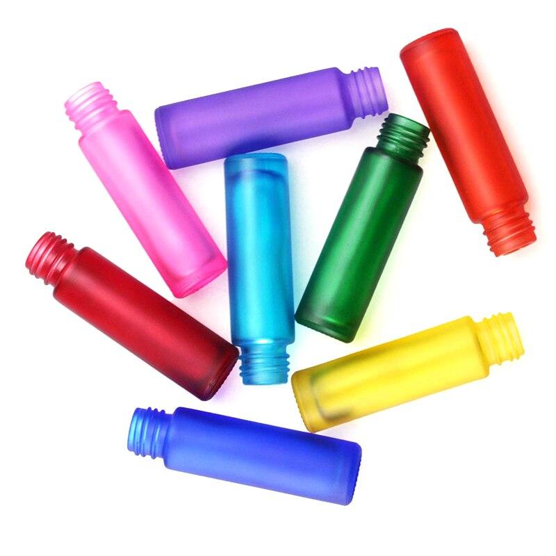 3 uds. Botellas de Perfume de aceite esencial de 10ml de vidrio esmerilado con rollo, contenedor de niebla, botella de viaje Rollerball