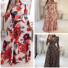 Oufisun 2020 Mode frauen Plus Größe Kleid Lange Hülse Aushöhlen Bandage Elegante Frauen Party Kleid Boho Dame Kleider vestidos