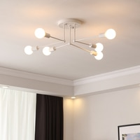 Modern Multiple Rod Dome Night Lamps Ceiling Light Wrought Iron E27 Bulb Cafe Bar Home Decor Lighting Holder Fixture