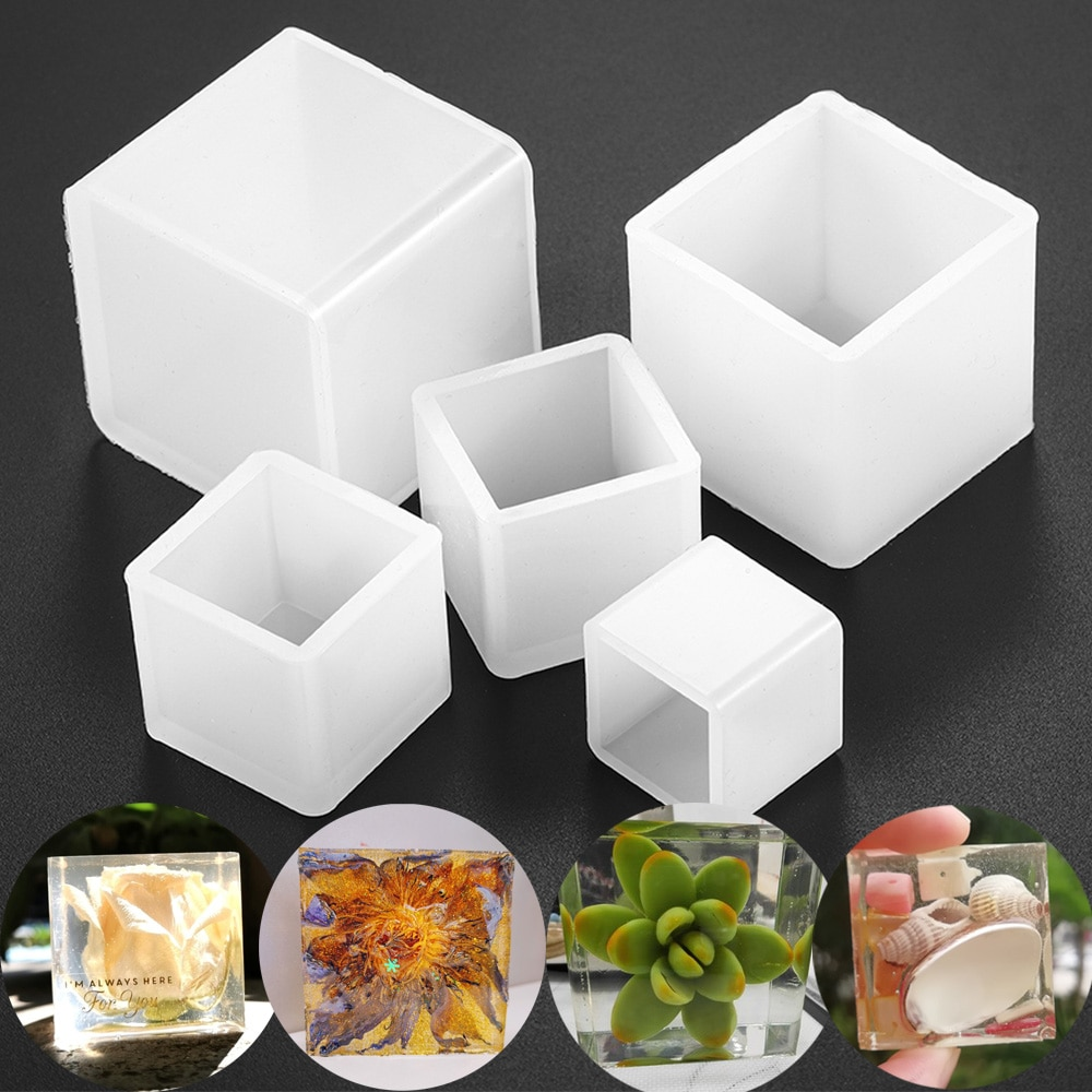 2cm-5cm Square Epoxy Resin Mold Cube Silicone Molds Resin Casting Molds for DIY Crafts Pendant Jewelry Making Tools demixing pendant resin mold silicone mold casting molds epoxy uv jewelry making moulds jewelry making jewelry tools