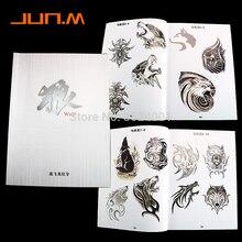 Vente en gros-loup bête tatouage A4 carnet de croquis conceptions Flash chine carnet de croquis livraison gratuite