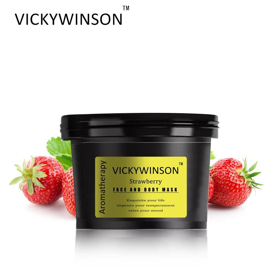 VICKYWINSON Strawberry Aromatherapy scrub 50g Body Scrub Skin Care Exfoliating Whitening Moisture Reducing Cellulite Skin Beauty недорого