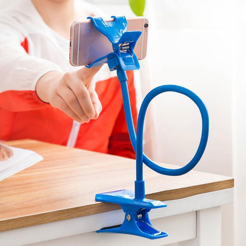 Flexible Universal 360 grados giran Universal perezoso soporte del Soporte del teléfono móvil Stents Flexible cama de escritorio soporte de Clip de mesa