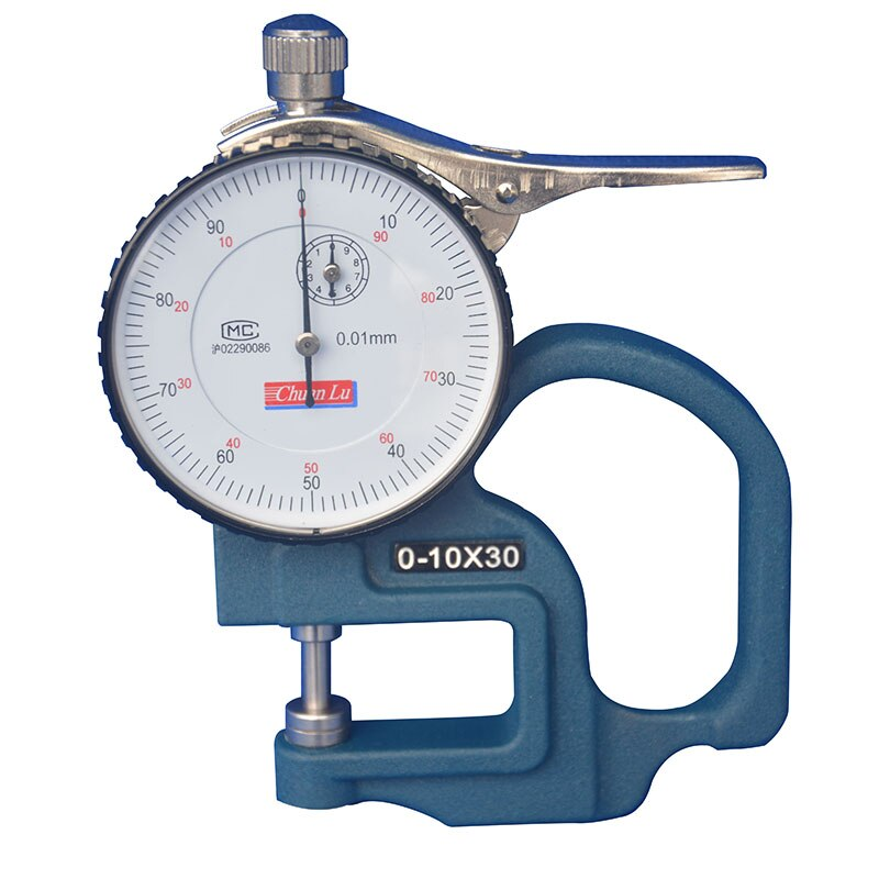 G-type H-type 0-10 مللي متر/0.01 مللي متر مقياس السُمك ، مقياس السُمك ، مقياس الاتصال الهاتفي ، مدى: 30 مللي متر
