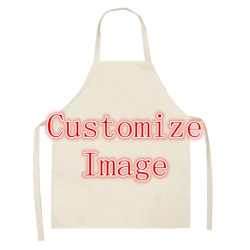 Customized Photo Aprons Kitchen Linen Apron For Man Woman Crafts Baking Chefs Kitchen Cooking BBQ Drop shipping new cotton aprons фартук canvas pockets baking chefs kitchen cooking apron фартук кухонный chefs with hat household merchandises