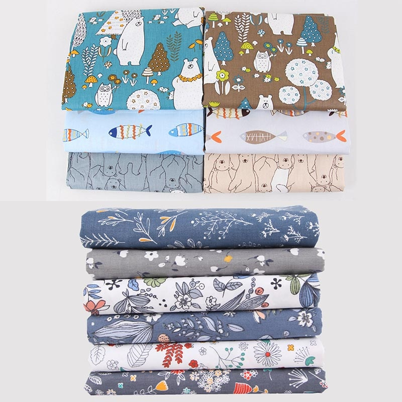 4 Sheet/5 Sheet/6 Sheet/pack 20*25CM Apparel Fabric Floral Print Cloth Material Cotton DIY Handmade Patchwork Sewing Supplies