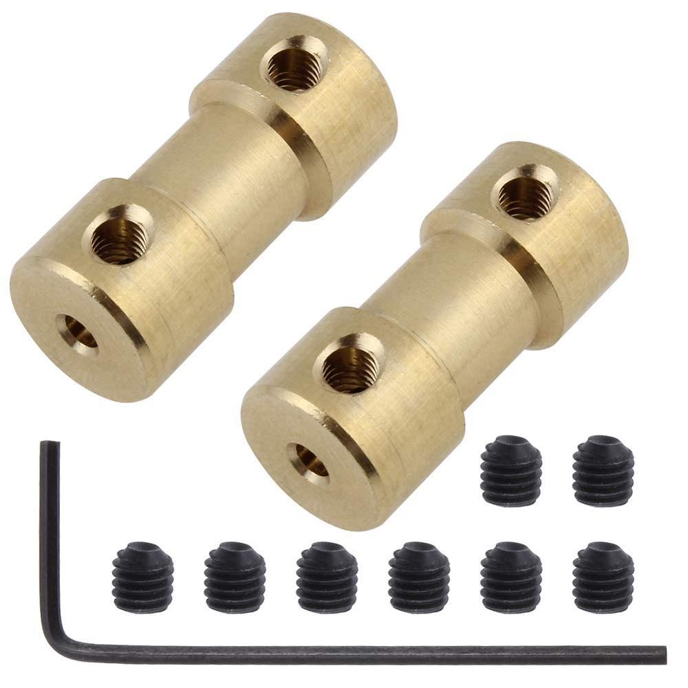 2/2.3/3/3.17/4/5/6mm n20 eixo do motor acoplamento conector manga adaptador de bronze junção de transmissão para rc barco carro avião