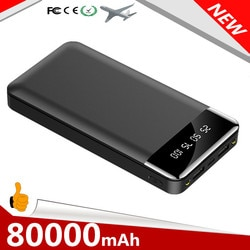Banco de potência 80000 mah carregador portátil poverbank de carregamento do telefone móvel bateria externa powerbank 80000 mah para iphone xiaomi mi