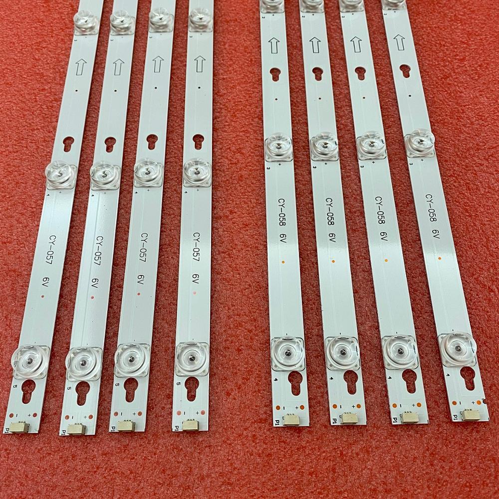 8 قطعة LED قطاع ل TCL 55S401 55S403 55uc6596 4C-LB5504-HR LB5505-YH 55D2900 U55P6006 GIC55LB125 GIC55LB124_LED3030F2.1D
