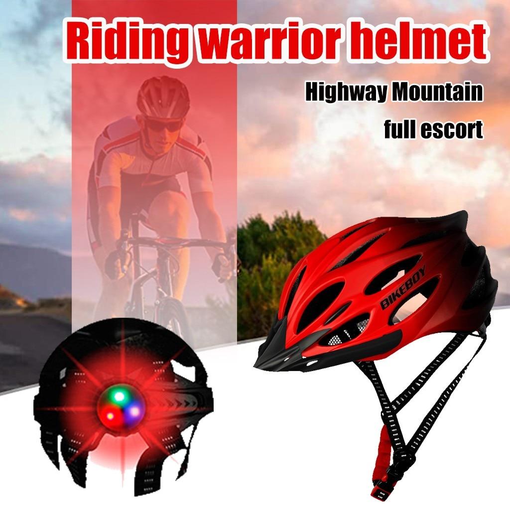 2020 niños adultos deportes al aire libre con luz casco de bicicleta de montaña carretera MTB Ciclismo de Carretera casco de seguridad casco de bicicleta transpirable