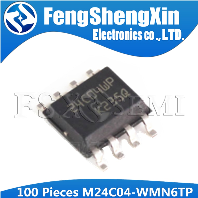100PCS M24C04-WMN6TP SOP M24C04 SOP-8 24C04 24C04WP SOP8 16 Kbit, 8 Kbit, 4 Kbit, 2Kbit und 1Kbit Serielle I2C Bus EEPROM IC