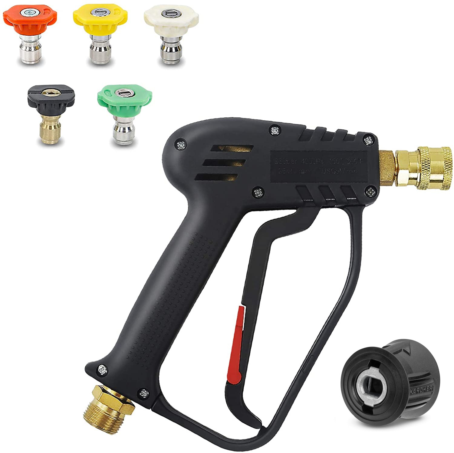 AliExpress - High Pressure Cleaning Gun Karcher 4000PSI with 5 Quick Connect Color Nozzle Kit Cleaning Water Gun for Car Cleaning