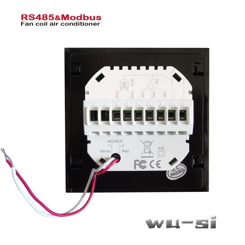 Modbus & RS485 RTU-ترموستات 2 أنبوب ، حراري أو بارد 95-240VAC ، اختياري 24VAC