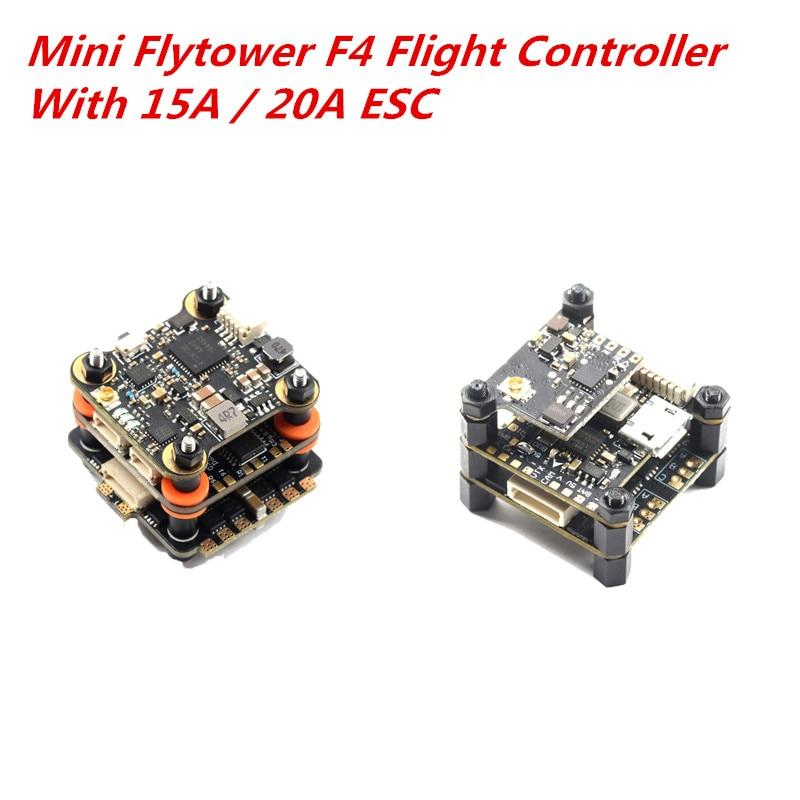 20x20mm Skystars Mini Flytower F4 OSD controlador de vuelo y 15A 20A BL_S 4in1 CES y 40CH 48CH 25/100/200mW VTX para Dron RC