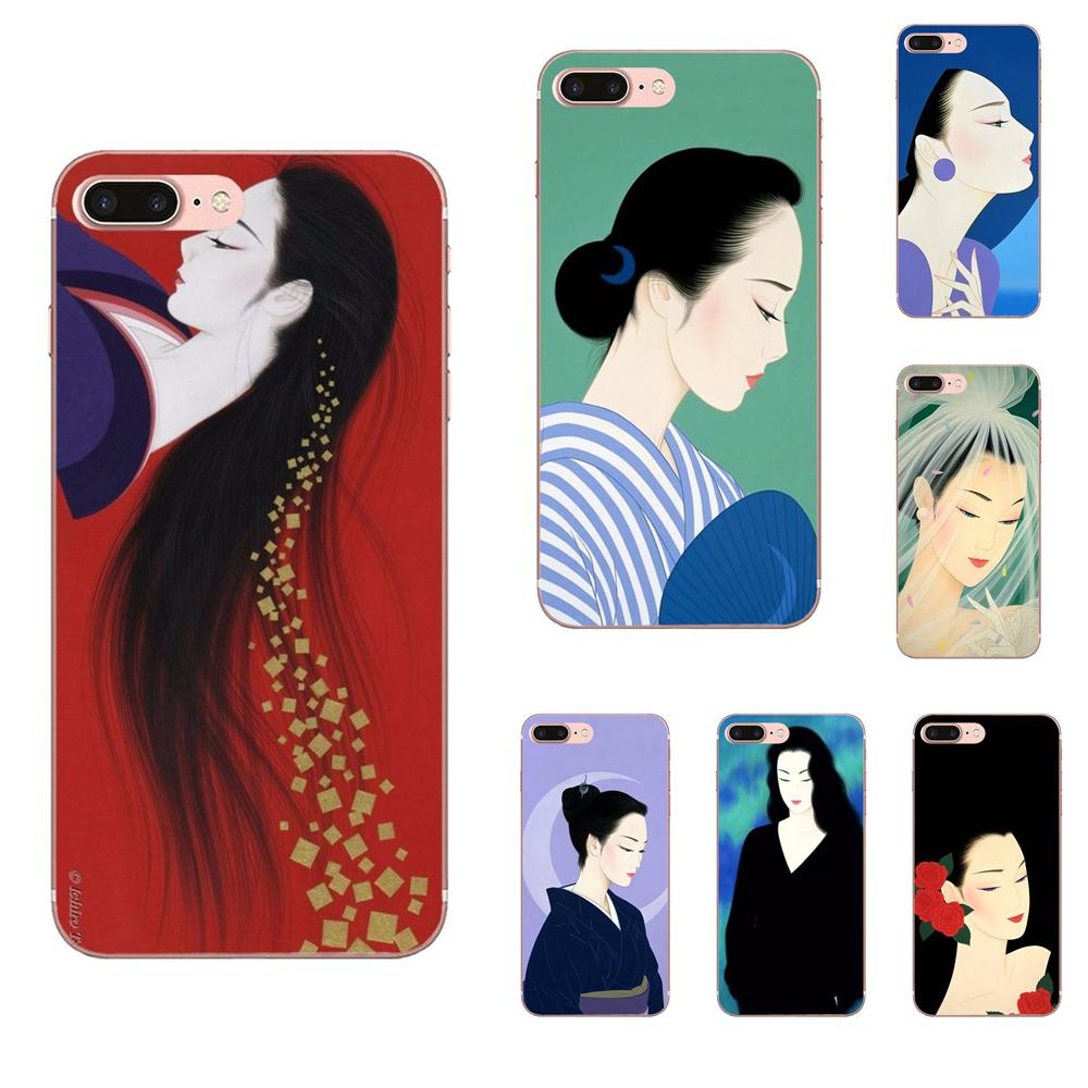 Oriental Women In Japanese Painters Amazing For Xiaomi Redmi Note 8 8A 8T 10 K30 5G For Motorola Moto G G2 G3 G4 G5 G6 G7 Plus