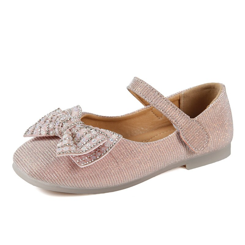2021 Autumn Children's Shoes Hot Style Girls' New Leather Shoes Bow Princess Shoes Sweet Hot School