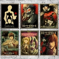kids children bedroom wall decor japan anime nordic poster prints death note retro home decor wall art canvas painting pictures