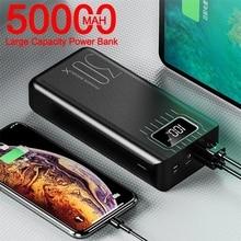 Power Bank 50000mAh Large-Capacity Powerbank Outdoor Travel Charger Phone External Battery LCD Digit