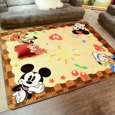 Cartoon Mickey Children Carpet Kids Playmat Baby Crawling Carpet Cartoon Floor Mat Living Room Bedroom Home Blanket 55x40 cm cartoon shiba inu carpet dog sleeping mat living room mat toy for bedroom