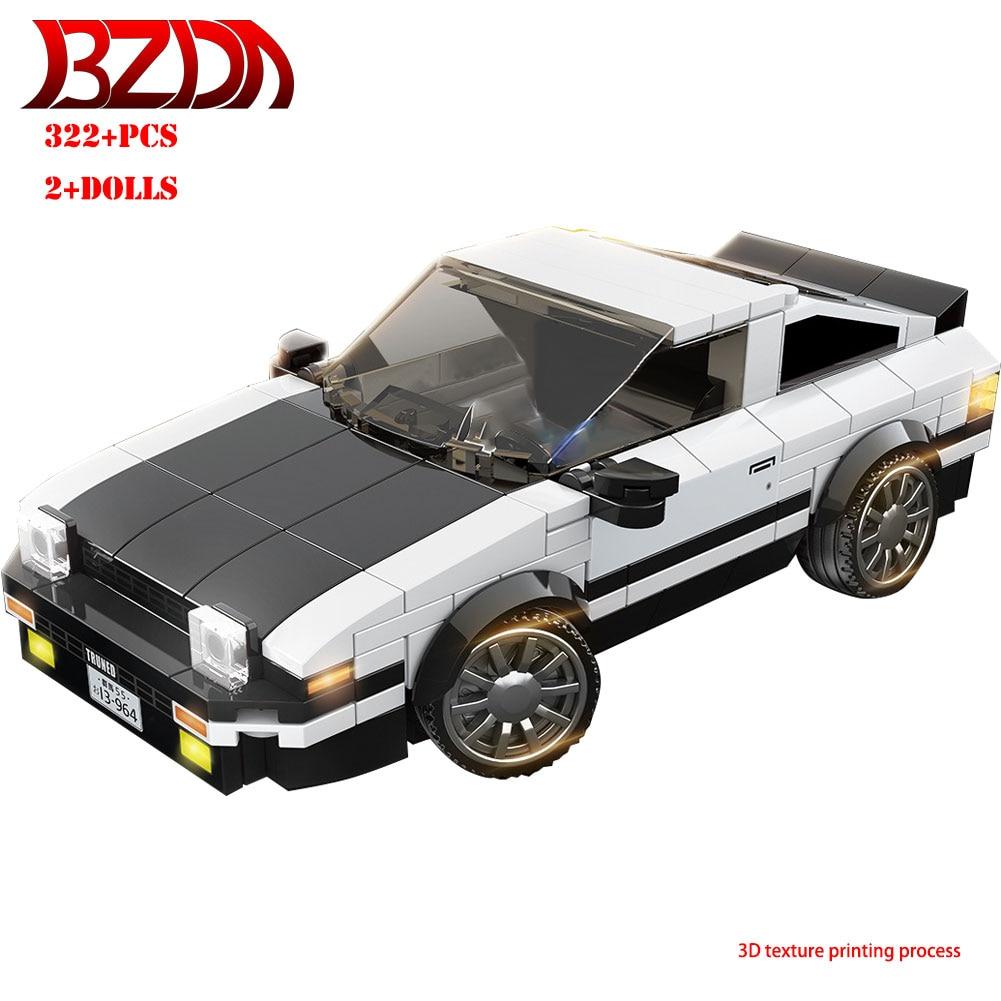 BZDA City Car Toyota AE86 Building Blocks Speed Champion Cars Bricks Kit Model For Kids Toys Boys Birthday Gifts Toys & Hobbies