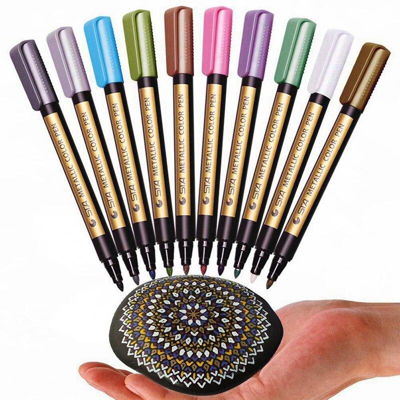 10-pezzi-pennarelli-colorati-vernici-penne-arte-permanente-scrittura-pennarelli-acrilici-promarker-per-pietre-pattinaggio-carta-disegno-murale-di-vetro