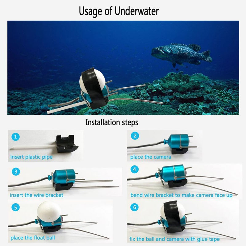 Wireless Visual Fish Finder for Mobile Phone Wifi Visual Fish Finder for Nest Fishing Night Vision Support Recording Playback enlarge
