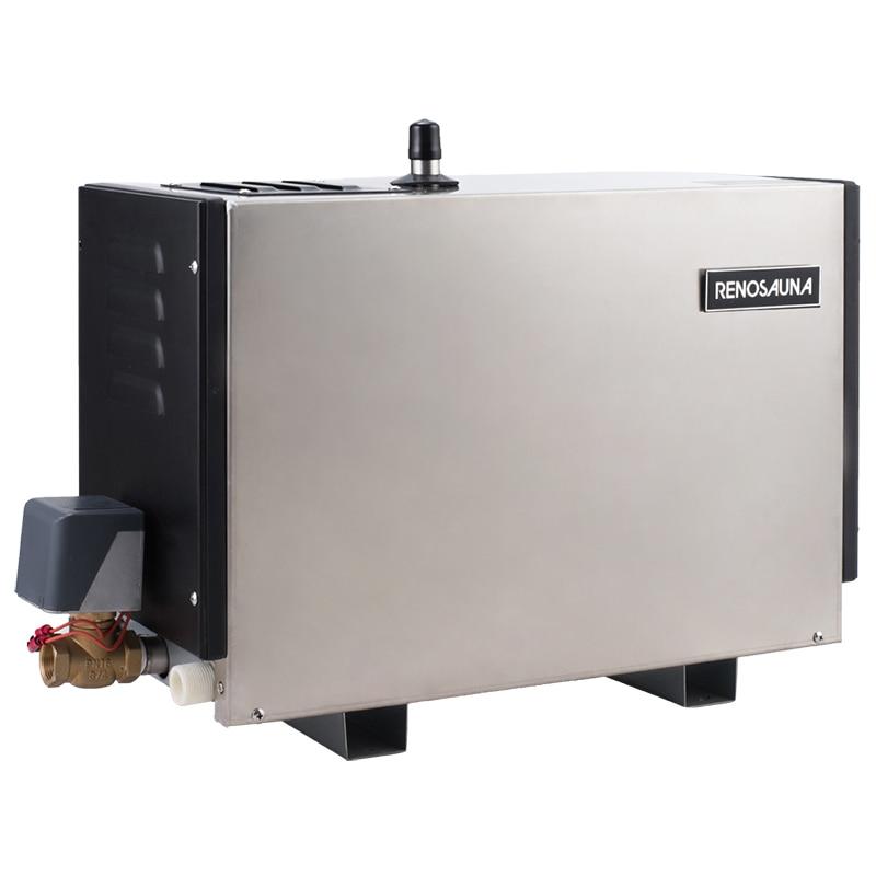 Envío Gratis 6KW380V 50/60HZ 3 fases drenaje automático de alta resistencia y controlador de tono táctil baño de vapor generador de ducha comercial