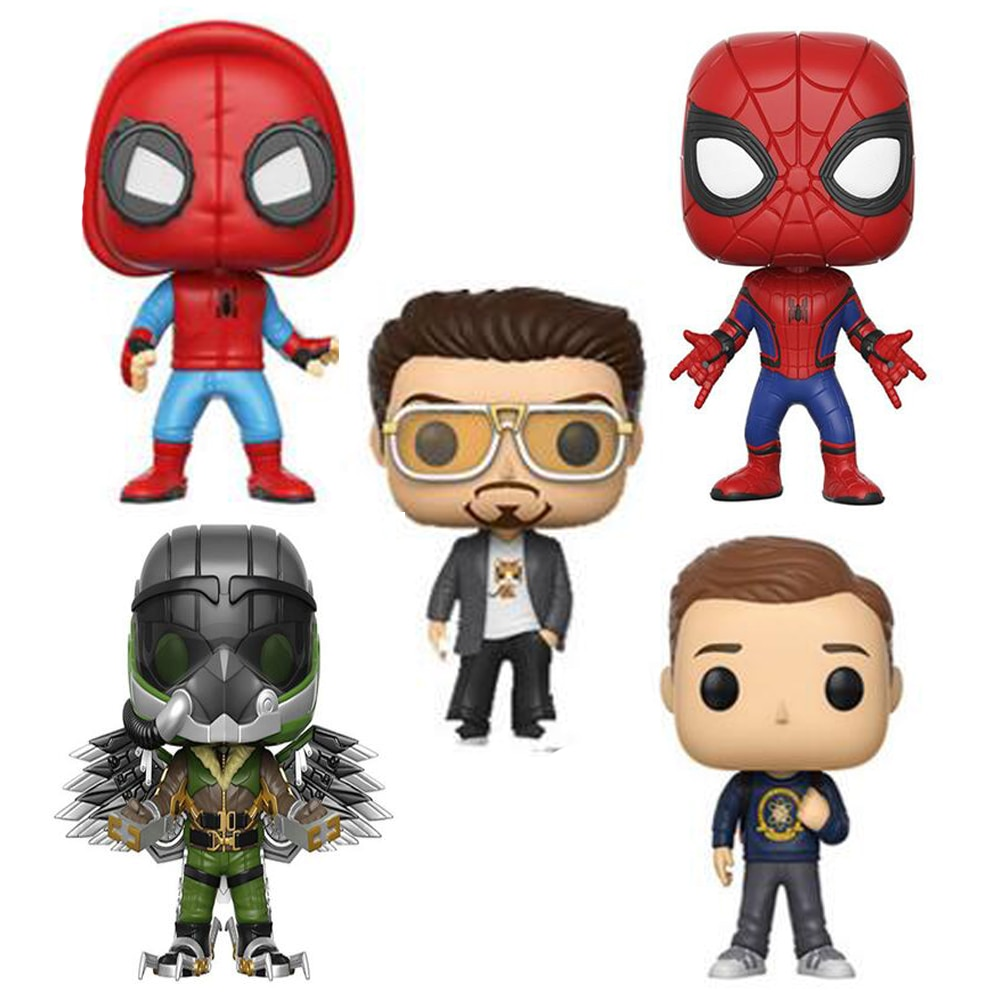 Avengers Spiderman super hero Spider-Man: Homecoming 10cm Spider Man Figure Collection Model Toys