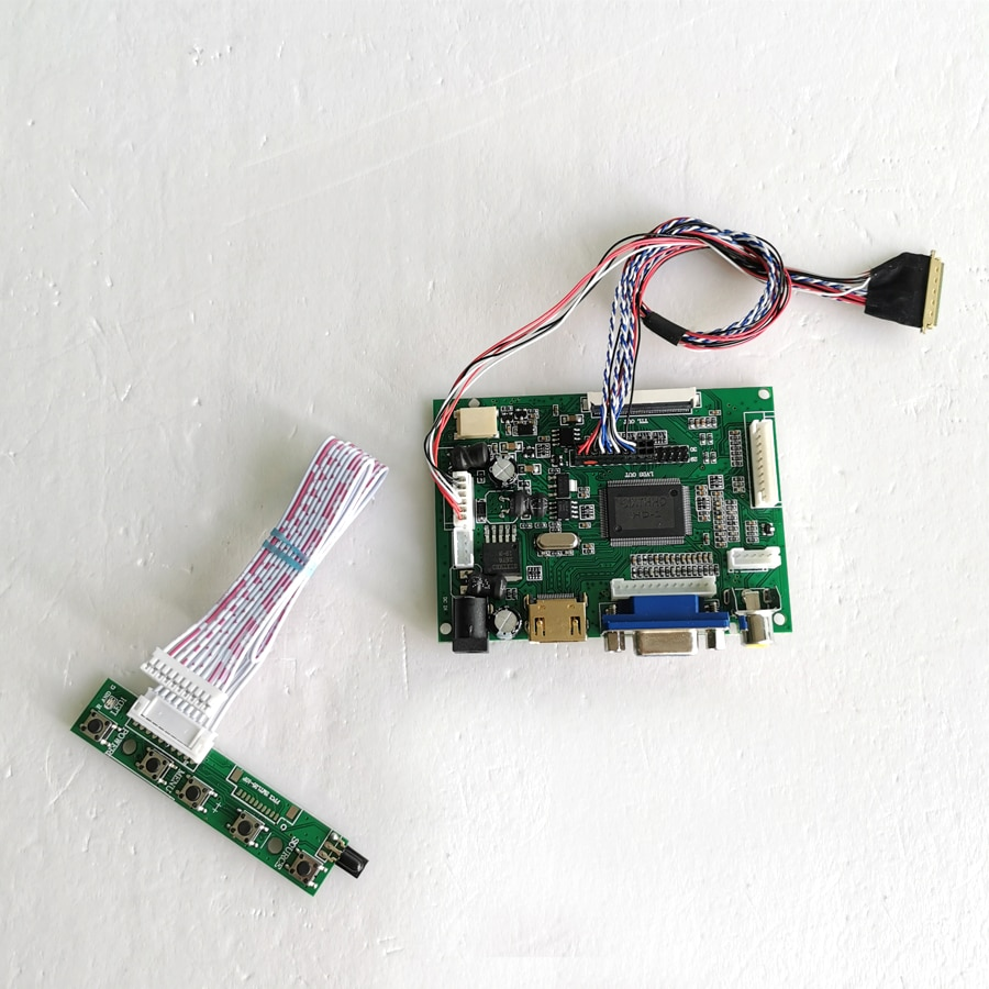 "Ajuste LTN156AT02 WLED LVDS cable HDMI VGA 2AV 1366*768 15,6 ""40 pines portátiles pantalla LCD controlador drive card kit"