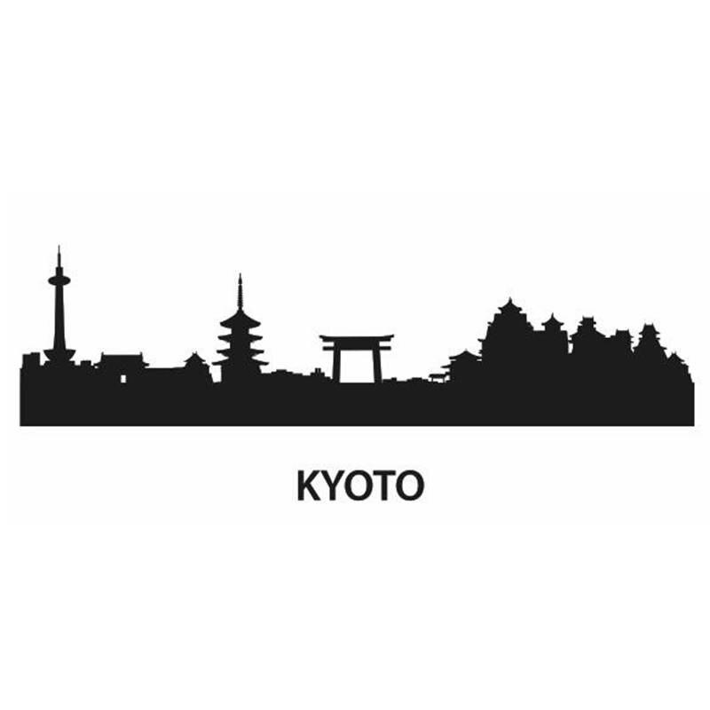 Etiqueta de la pared de la etiqueta del Skyline de Pekín, decoración de la pared