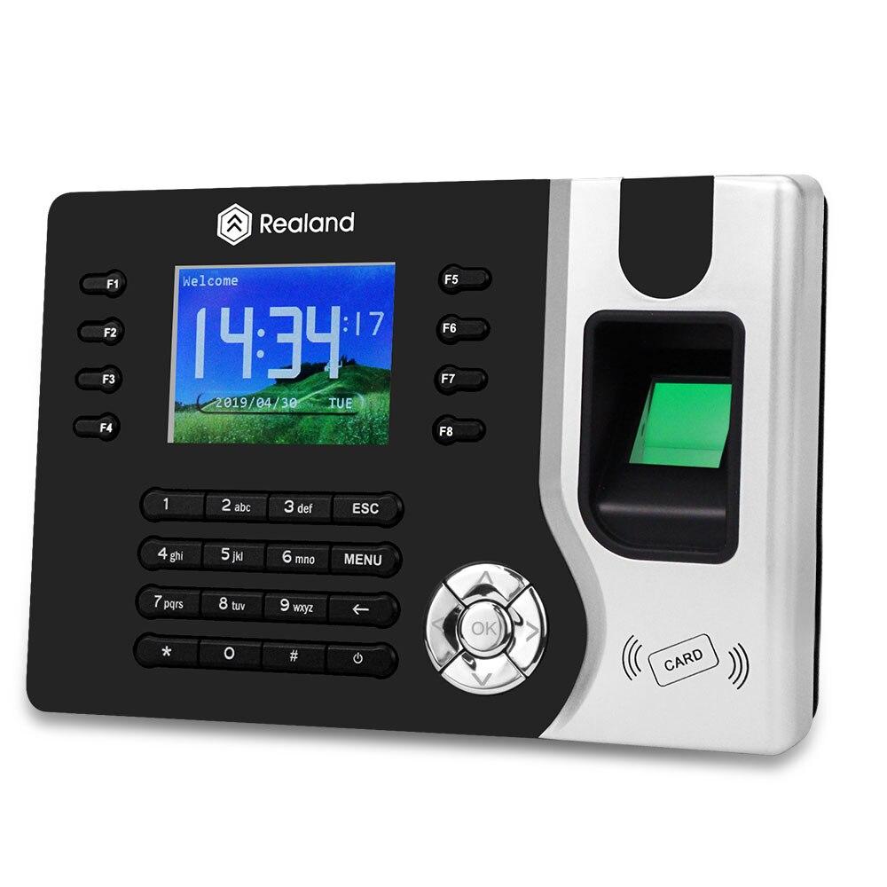 2,4 pulgadas TCP/IP/USB biométrico RFID asistencia de huellas dactilares reloj de tiempo grabadora empleado tarjeta electrónica lector máquina A-C071