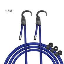 1.5 réglable voiture cordons élastiques bagages sangles cordes tension ceintures cordes à linge avec crochets
