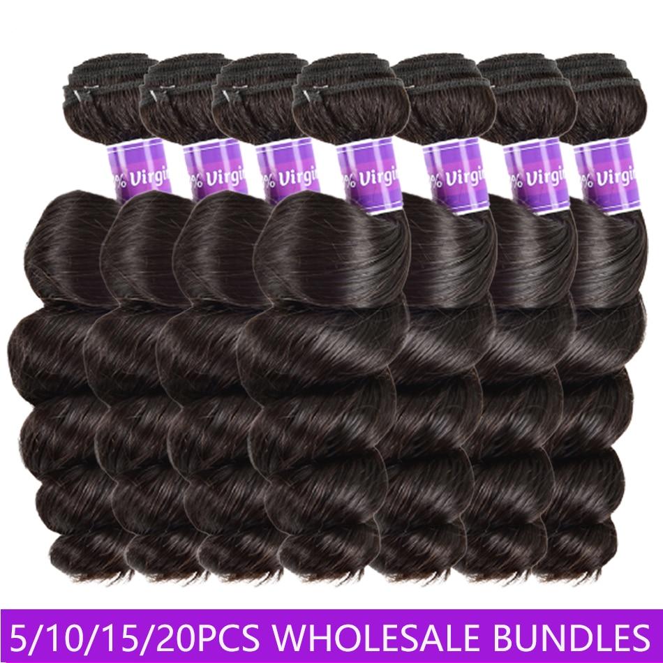 Wholesale Price Bundles Deals Peruvian Loose Wave Bundles 100% Human Hair Unpressed Human Virgin Hai