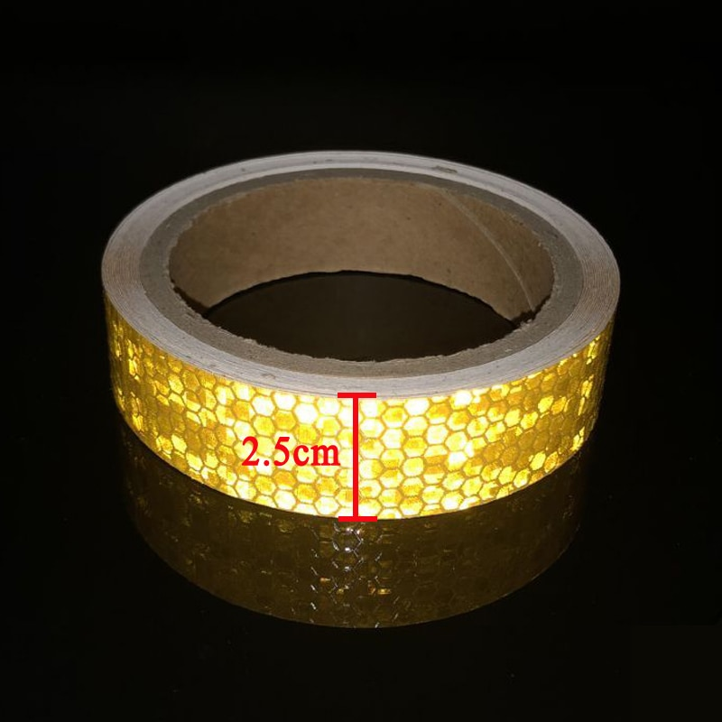 Bike Body Reflective Stickers Safety Warning Conspicuity Tape Film Sticker Light Bar Bicycle Access