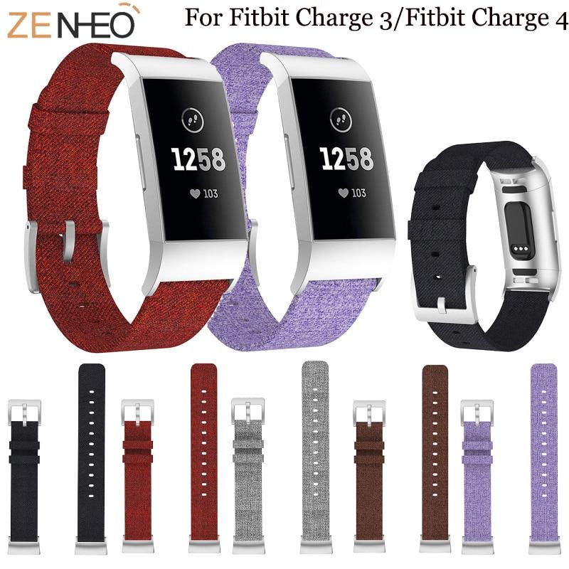Correa de tela tejida para Fitbit charge 3 4, repuesto de correa para reloj inteligente charge3 4, accesorios para reloj inteligente